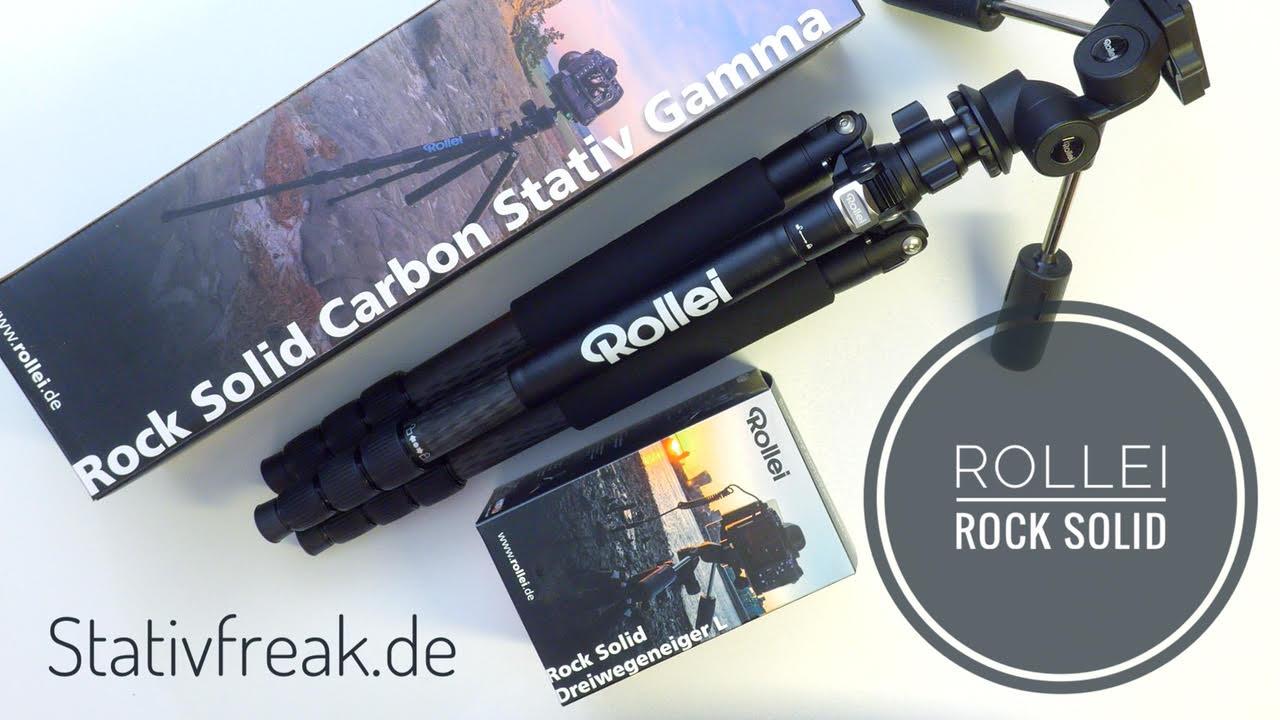 Das Rollei Rock Solid Carbon Stativ und der Rollei Rock Solid 3-Wege-Neiger L in der näheren Betrachtung (Video)